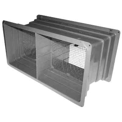 NorWesco DLX 8 In. x 16 In. Plastic Manual Foundation Vent
