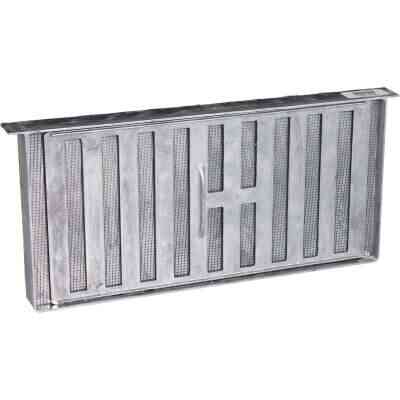 Air Vent 8 In. x 16 In. Aluminum Manual Foundation Vent with Sliding Damper and Lintel