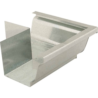 NorWesco 4 In. Galvanized Gutter Outside Corner