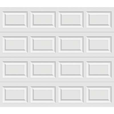 Holmes Gold Series 8 Ft. W x 7 Ft. H White Insulated Steel Garage Door w/EZ-Set Torsion Spring