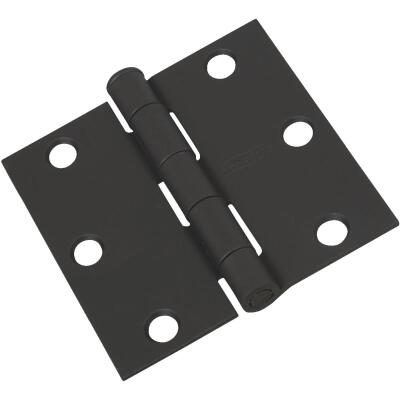 National 3 In. Square Black Door Hinge