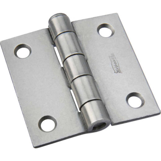 National 2 In. Square Plain Steel Broad Door Hinge