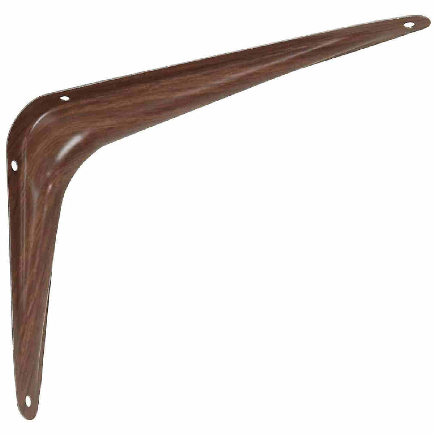 National 211 6 In. D. x 8 In. H. Fruitwood Steel Shelf Bracket Image 1