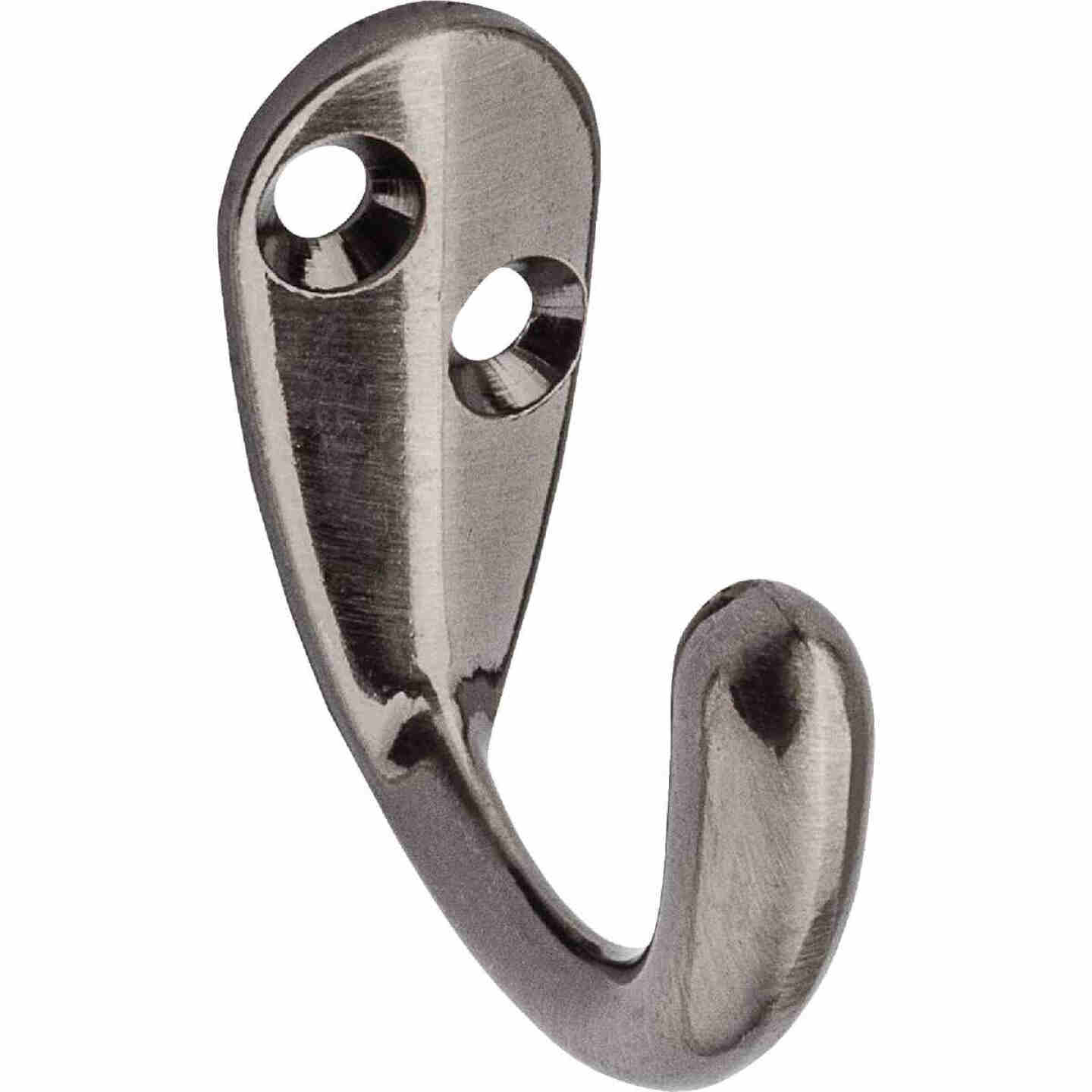 National Pewter Single Clothes Wardrobe Hook, 2 per Card Image 1