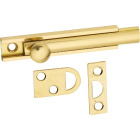 National Gallery Series 3 In. Polished Brass Door Surface Bolt Image 1