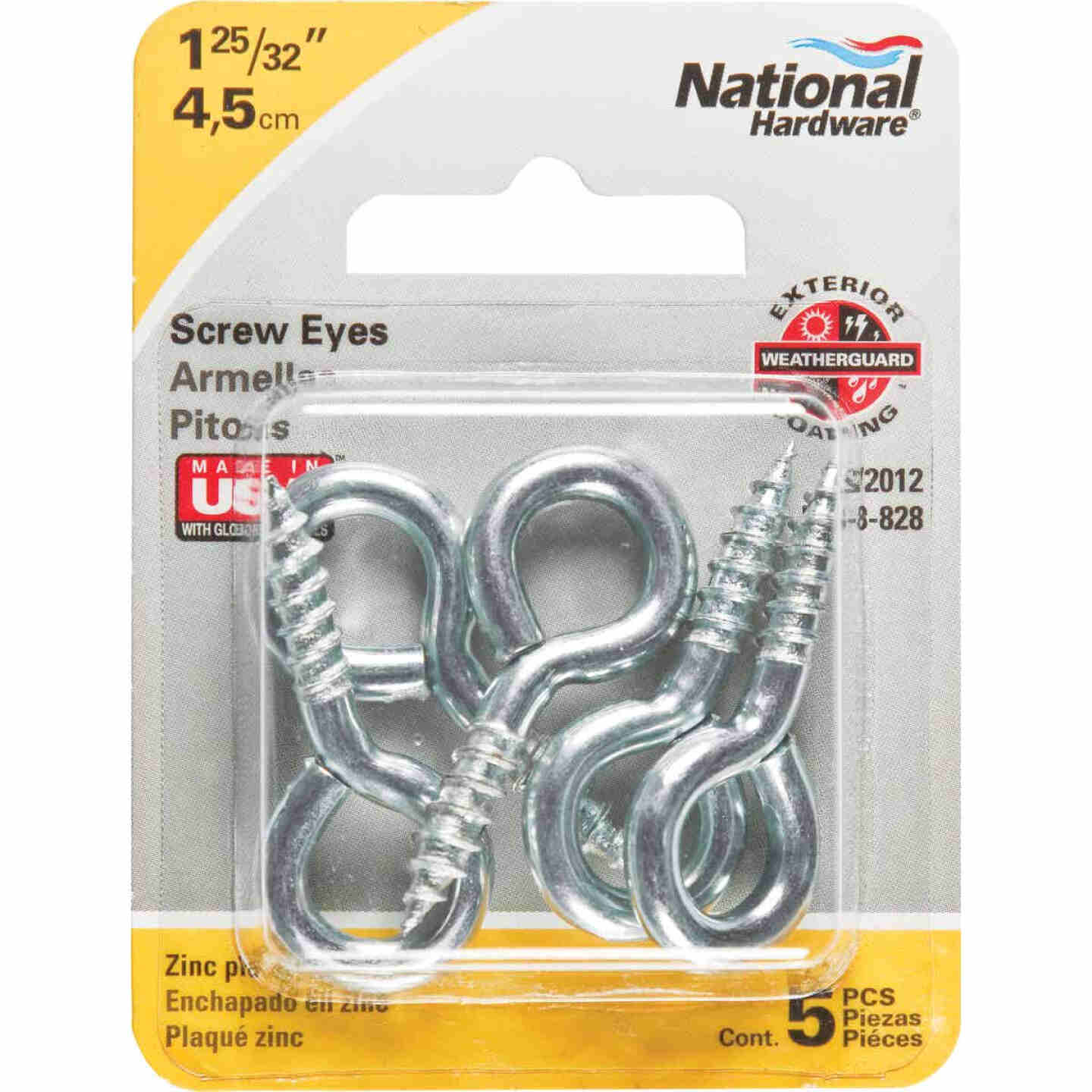 National #106 Zinc Medium Screw Eye (5 Ct.) Image 2
