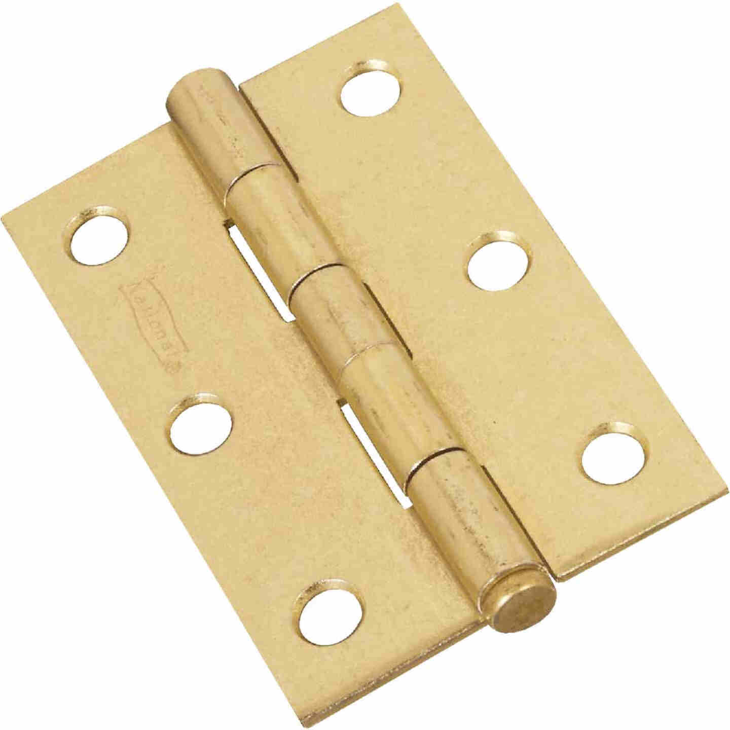 National 3 In. Brass Loose-Pin Narrow Hinge (2-Pack) Image 1
