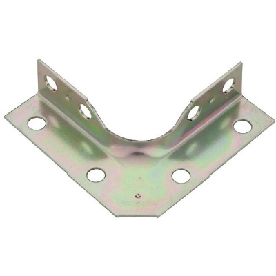 National Catalog V114 Series 2-1/2 In. x 5/8 In. Zinc Corner Brace (4-Count)