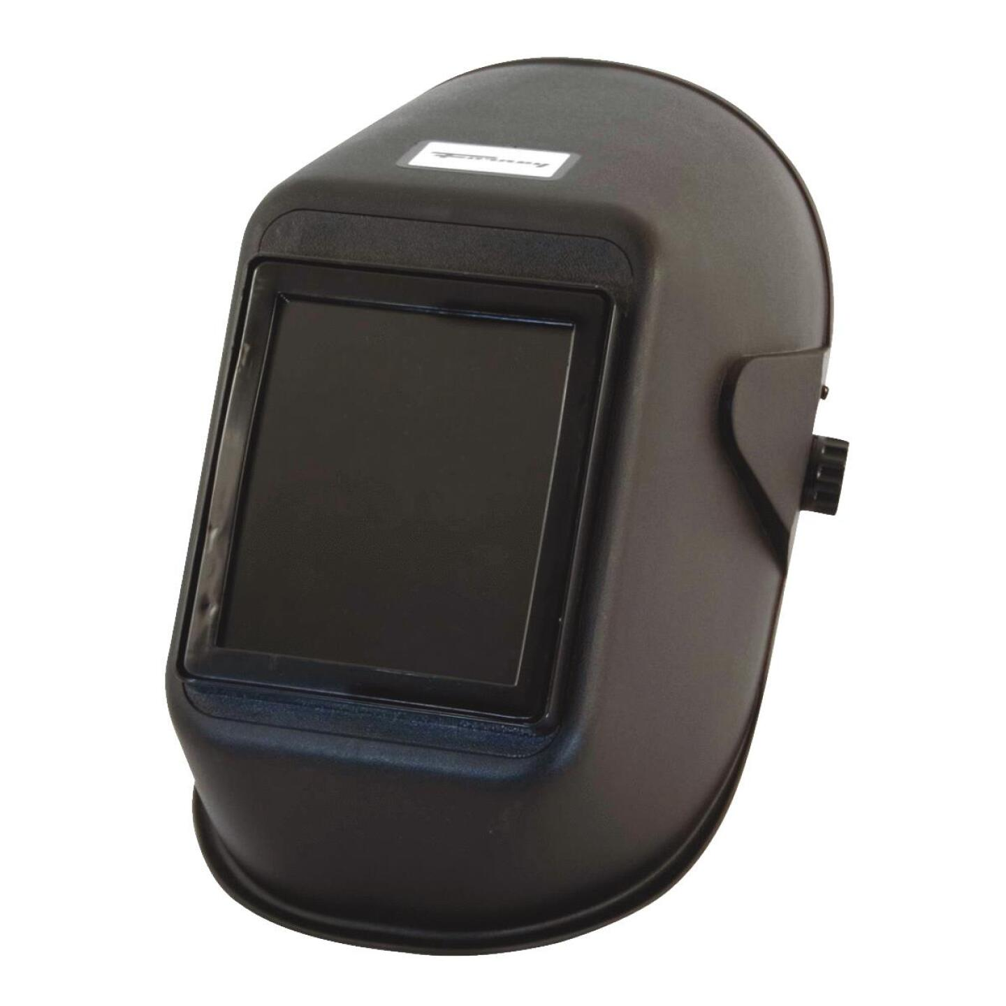 Forney Bandit II Black Polymer Welding Helmet with 5-1/4 In. x 4-1/2 In. Fixed Shade #10 Image 1