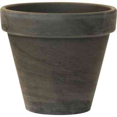 Ceramo 3-3/4 In. H. x 4-1/2 In. Dia. Dark Basalt Clay Standard Flower Pot