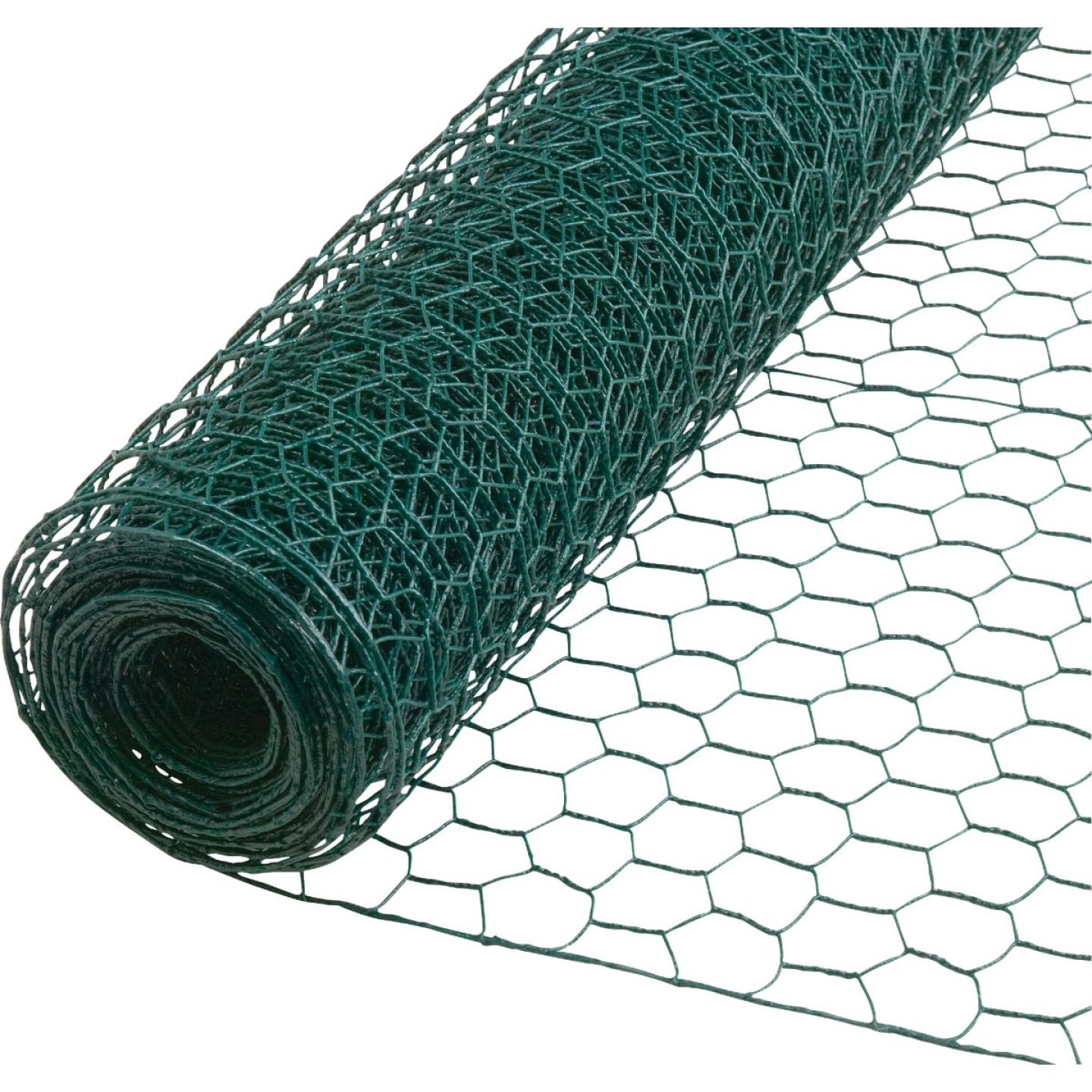 1 In. x 24 In. H. x 25 Ft. L. Green Vinyl-Coated Poultry Netting Image 1