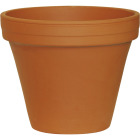 Ceramo 6-3/4 In. H. x 7-3/4 In. Dia. Terracotta Clay Standard Flower Pot Image 1